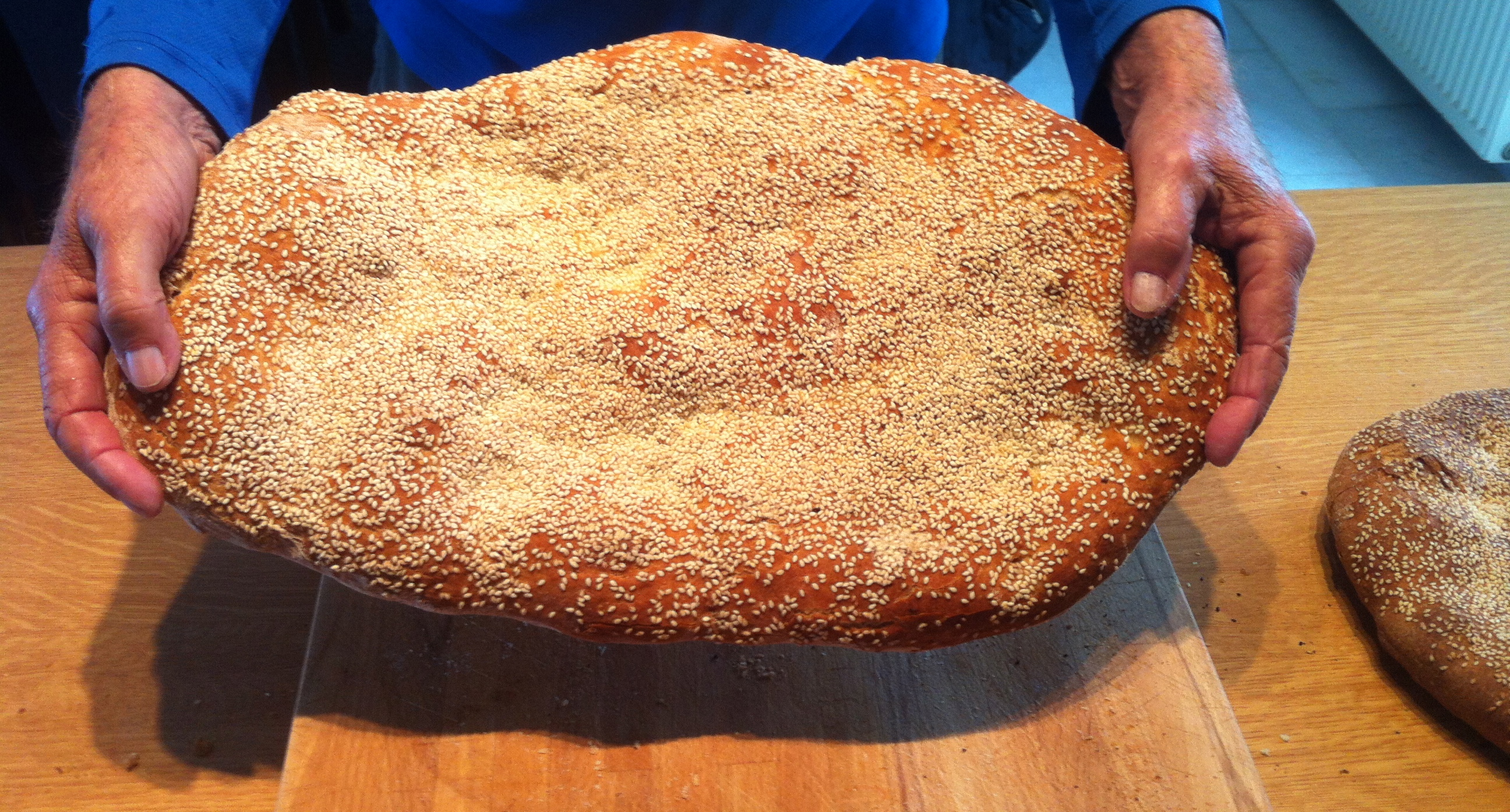 Greek Lagana Bread-1